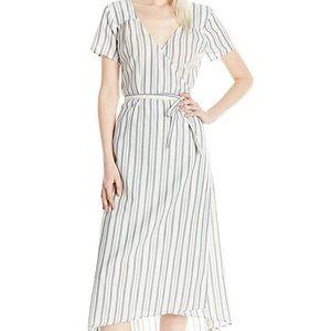 Billabong striped wrap dress, new, size medium